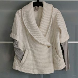 Anthropologie pea coat with jersey sleeves